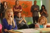 "BEN AND KATE: Kate (Dakota Johnson, L), Will (guest star Geoff Stults, C) and Maddie (Maggie Elizabeth Jones, R) listen to Ben's speech during Career Day at Maddie's school in the ""Career Day"" episode of BEN AND KATE airing Tuesday, Nov. 13 (8:30-9:00 PM ET/PT) on FOX. ©2012 Fox Broadcasting Co. Cr: Jennifer Clasen/FOX"