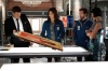 """BONES:  L-R:  Booth (David Boreanaz), Angela (Michaela Conlin), Hodgins (TJ Thyne) and Cam (Tamara Taylor) investigate an artifact from the Jeffersonian that may hold a clue to who shot Brennan in the """"The Shot in the Dark"""" episode of BONES airing Monday, Feb. 11 (8:00-9:00 PM ET/PT) on FOX. ©2013 Fox Broadcasting Co. Cr: Jordin Althaus/FOX"""