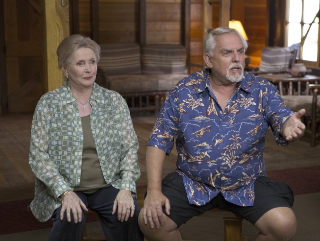 "BONES:  John Ratzenberger (R) and Millicent Martin (L) guest-star in the ""The Cheat in the Retreat"" episode of BONES airing Monday, Sept. 23 (8:00-9:00 PM ET/PT) on FOX. ©2013 Fox Broadcasting Co.  Cr:  Patrick McElhenney/FOX"