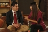 """NEW GIRL:  Schmidt (Max Greenfield, L) tells Cece (Hannah Simone, R) about his plan to pretend to be one of Presidential candidate Mitt Romney's sons to date a beautiful Republican in the """"Fluffer"""" episode of NEW GIRL airing Tuesday, Oct. 2 (9:00-9:30 PM ET/PT) on FOX.  ©2012 Fox Broadcasting Co.  Cr: Greg Gayne/FOX"""
