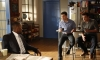 """NEW GIRL:  Schmidt (Max Greenfield, C) tells Nick (Jake Johnson, R) and Winston (Lamorne Morris, L) about his plan to pretend to be one of Presidential candidate Mitt Romney's sons to date a beautiful Republican in the """"Fluffer"""" episode of NEW GIRL airing Tuesday, Oct. 2 (9:00-9:30 PM ET/PT) on FOX.  ©2012 Fox Broadcasting Co.  Cr: Greg Gayne/FOX"""