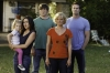 "RAISING HOPE: Hope (Baylie/Rylie Cregut, L), Sabrina (Shannon Woodward, second from L), Burt (Garret Dillahunt, C), Virginia (Martha Plimpton, second from R) and JImmy (Lucas Neff, R) watch Maw Maw get taken away in the all-new ""Throw Maw Maw from the House, Part One"" episode of RAISING HOPE airing Tuesday, October 9 (8:00-8:30 PM ET/PT) on FOX. ©2012 Fox Broadcasting Co. CR: Jordin Althaus/FOX"