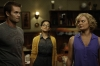 "RAISING HOPE: A social worker (guest star Jenny Slate, C) questions Burt (Garret Dillahunt, L) and Virginia (Martha Plimpton, R) in the all-new ""Throw Maw Maw from the House, Part One"" episode of RAISING HOPE airing Tuesday, Oct. 9 (8:00-8:30 PM ET/PT) on FOX. ©2012 Fox Broadcasting Co. CR: Jordin Althaus/FOX"