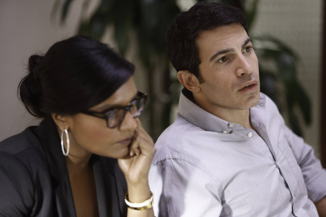 "THE MINDY PROJECT: Mindy (Mindy Kaling, L) and Danny (Chris Messina, R) interview candidates for a new nurse in the ""Hiring and Firing"" episode of THE MINDY PROJECT airing Tuesday, Oct. 2 (9:30-10:00 PM ET/PT) on FOX. ©2012 Fox Broadcasting Co. Cr: Jordin Althaus/FOX"