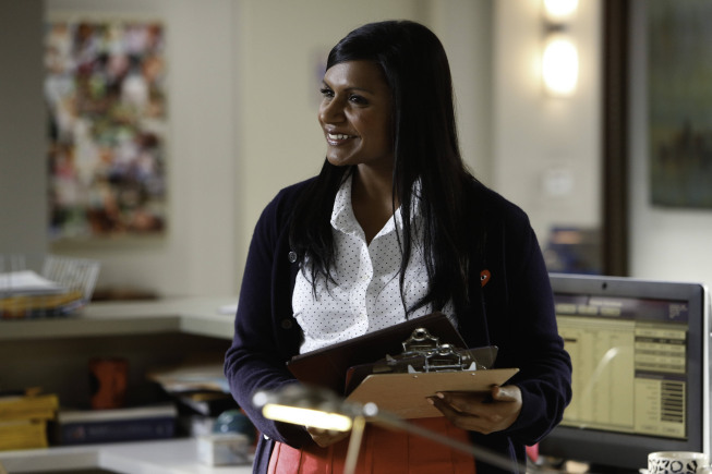 "THE MINDY PROJECT: Mindy (Mindy Kaling) is given the responsibility of hiring a new nurse in the ""Hiring and Firing"" episode of THE MINDY PROJECT airing Tuesday, Oct. 2 (9:30-10:00 PM ET/PT) on FOX. ©2012 Fox Broadcasting Co. Cr: Jordin Althaus/FOX"