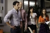 "THE MINDY PROJECT: Danny (Chris Messina, L), Dr. Shulman (Stephen Tobolowsky, second from L), Shauna (Amanda Setton, second from R) and Betsy (Zoe Jarman, R) watch as Mindy fires a nurse in the ""Hiring and Firing"" episode of THE MINDY PROJECT airing Tuesday, Oct. 2 (9:30-10:00 PM ET/PT) on FOX. ©2012 Fox Broadcasting Co. Cr: Jordin Althaus/FOX"