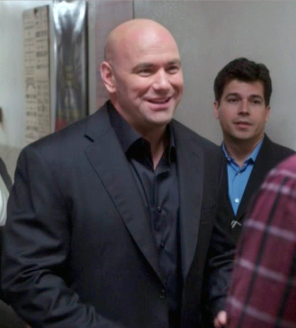 "THE MINDY PROJECT: Dana White guest-stars as himself in the ""Bros Club For Dudes"" episode of THE MINDY PROJECT airing Tuesday, Oct. 22 (9:30-10:00 PM ET/PT) on FOX. ©2013 Fox Broadcasting Co."