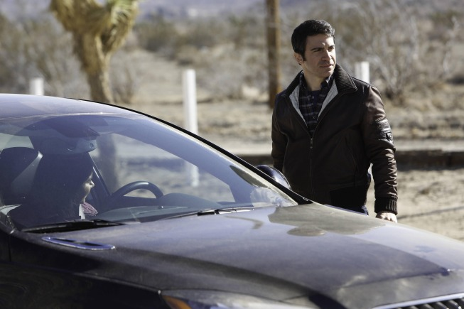 "THE MINDY PROJECT: When Danny (Chris Messina, R) visits his father, Mindy (Mindy Kaling, L) accompanies him in the ""The Desert"" episode of THE MINDY PROJECT airing Tuesday, Jan. 21 (9:30-10:00 PM ET/PT) on FOX. ©2013 Fox Broadcasting Co. Cr: Jordin Althaus/FOX"