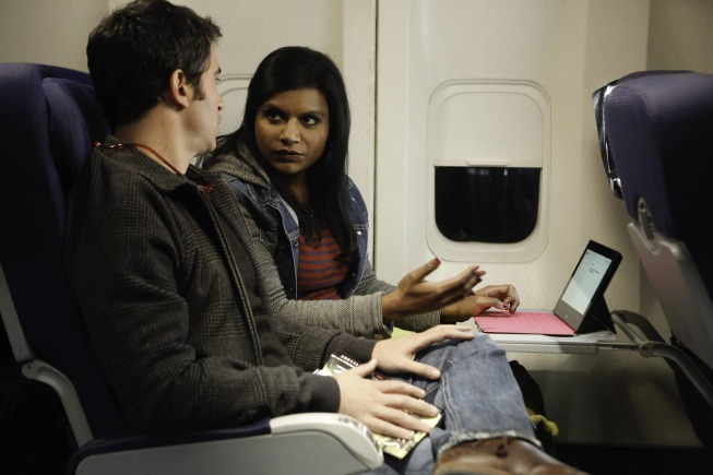 "THE MINDY PROJECT:  Mindy (Mindy Kaling, R) asks Danny (Chris Messina, L) for help writing an important letter in the ""The Desert"" episode of THE MINDY PROJECT airing Tuesday, Jan. 21 (9:30-10:00 PM ET/PT) on FOX.  ©2013 Fox Broadcasting Co.  Cr:  Jordin Althaus/FOX"
