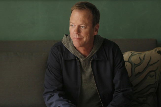 "TOUCH:  Martin (Kiefer Sutherland) waits to meet with the daughter of a man who is on death row in the ""Clockwork"" episode of TOUCH airing Friday, March 29 (9:00-10:00 PM ET/PT) on FOX.  ©2013 Fox Broadcasting Co.  Cr:  John P. Johnson/FOX"